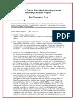 ashley holland lp4 pre-observation form 11-9-17