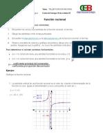 Funcion Racional - Taller