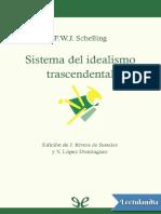 Sistema Del Idealismo Trascendental - Friedrich Schelling