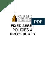 Fixed Assets Procedures