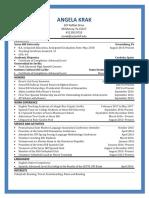 angela krak resume 2017