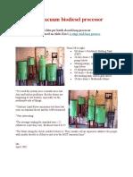 Ian's Vacuum Biodiesel Processor-Updated
