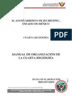 Manual de Organización de La Cuarta Regiduría