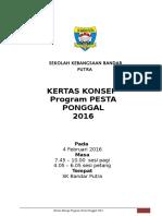 Kertas Konsep Pesta Ponggal 2016