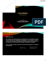 Especificaciones columnas