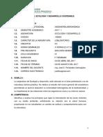 SÍLABO Ecología y Desarrollo Sostenible 2017- I