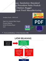 Penerapan Sanitation Standard Operating Procedure Pada Produk Chicken Nugget di PT So Good Food Manufacturing