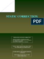 Static Correction
