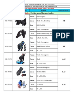 Catalogue of gloves