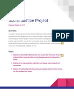 april social justice project proposal feedback