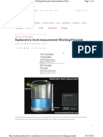 Radiometric Level Measurement w
