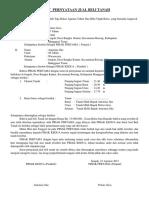 Surat Pernyataan Jual Beli Tanah.......Pak Anton Wae Laku. Agung