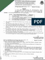 Office Order Regarding Night Shelter Homes Inspection Visit