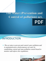 The Water (Prevention and Control of Pollution ACT 1974