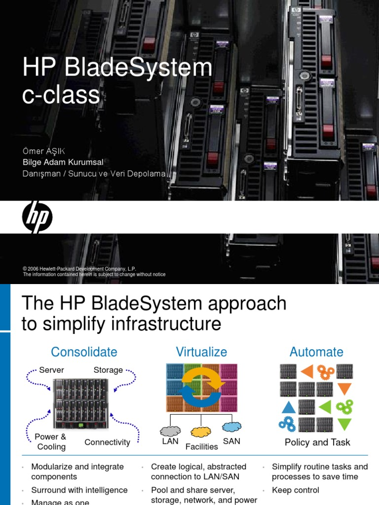 HP Bladesystem c-class ppt   Data Center   Office Equipment