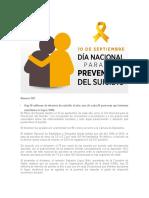 30-11-17 Día Nacional para la prevención del suicidio