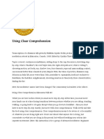 Using Clear Comprehension