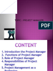 Ppt on Project Manager
