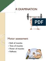 Motor Exam