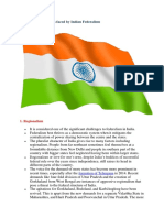 Issues and Challenges Faced by Indian Federalism