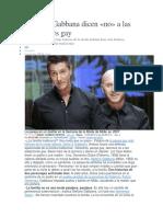 Dolce y Gabanna, en contra de la adopción por parejas gay.docx