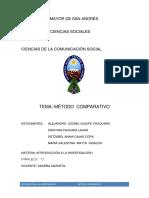 El Método Comparativo Informe