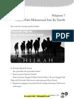 Pelajaran 7 Hijrah Nabi Muhammad SAW Ke Yatsrib