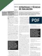 Estrategias y técnicas de evaluacion