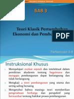 3. Teori-teori Klasik Pembangunan Ekonomi