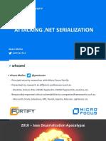 Attacking NET Serialization