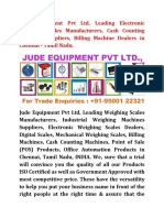best service f1e94 82ab1 Electronic Weighing Scales Manufacturers and Suppliers in Chennai - Tamil  Nadu - 9500122321 - Jude Equipment