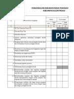 Form Evaluasi & Pengendalian Renja 2018