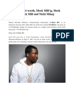 Meek Mill Net worth, Meek Mill ig, Meek Mill age, Meek Mill and Nicki Minaj