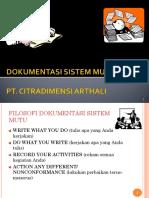 Dokumentasi Sistem Mutu