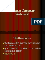Baroque Composer Webquest
