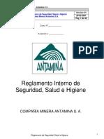 Reglamento Interno de Seguridad, Salud e Higiene