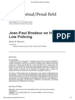 Jean-Paul Brodeur on High and Low Policing