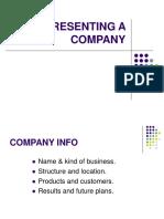 Presenting a Company