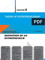 Chapter 1 Theory of Entrepreneurship