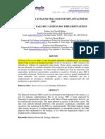 Artigo 13 - Análise Das Causas de Fracasso BSC