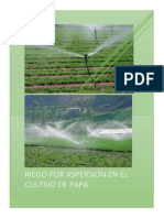 Informe de Riego por  Aspersion