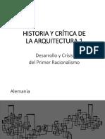 Tema 12.3 Desarrollo y Crisis Del Primer Racionalismo