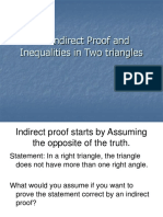 5.6 Indirect Proof and Inequalities in Two Triangles