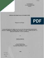 61440 Conception Et Mise en Place d Une Base de Donnees Pour l Observatoire Des Sports Et de l Emploi Dans La Region Rhone Alpes Osera