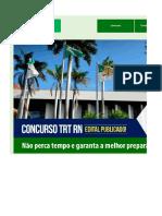 Edital Verticalizado TRT21 Analista Judiciário Área Judiciária FINAL