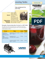 DCI Horizontal Processing Tanks Tech Sheet