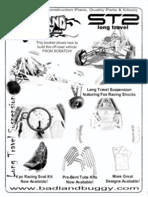 Badland Buggy - ST2-LT Plans - 1 of 2 pdf
