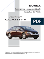 Honda Fuel Cell Vehicle Response Guide Clarity