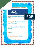 Sustancias Peligrosas y EPPs.
