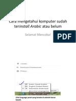 Cara Install Arabic